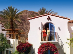 The exterior of a casita at  La Quinta