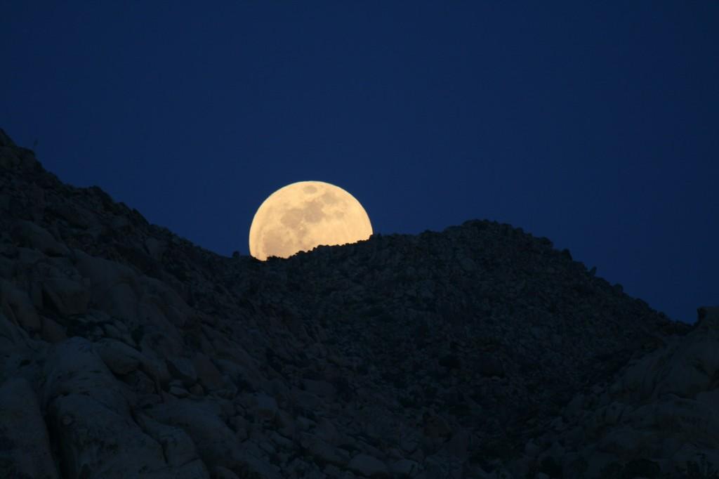 Full moon rising over Anza-Borrego SP