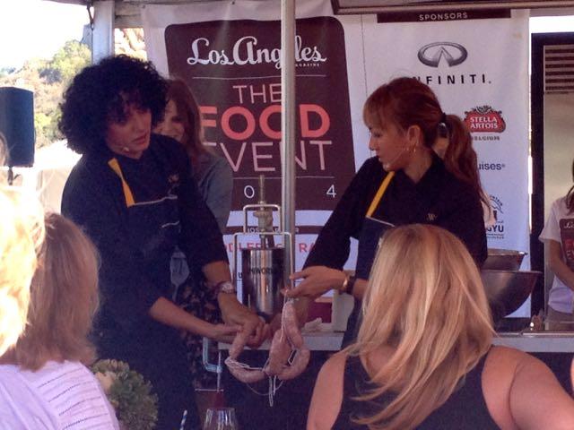 Gorge Restaurant chefs sausage making lesson